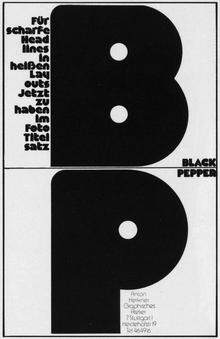 Black Pepper ad in <cite>Modern Publicity</cite> (1973)