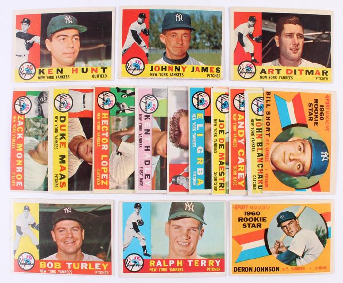 Topps baseball hobby cards (1960) 2