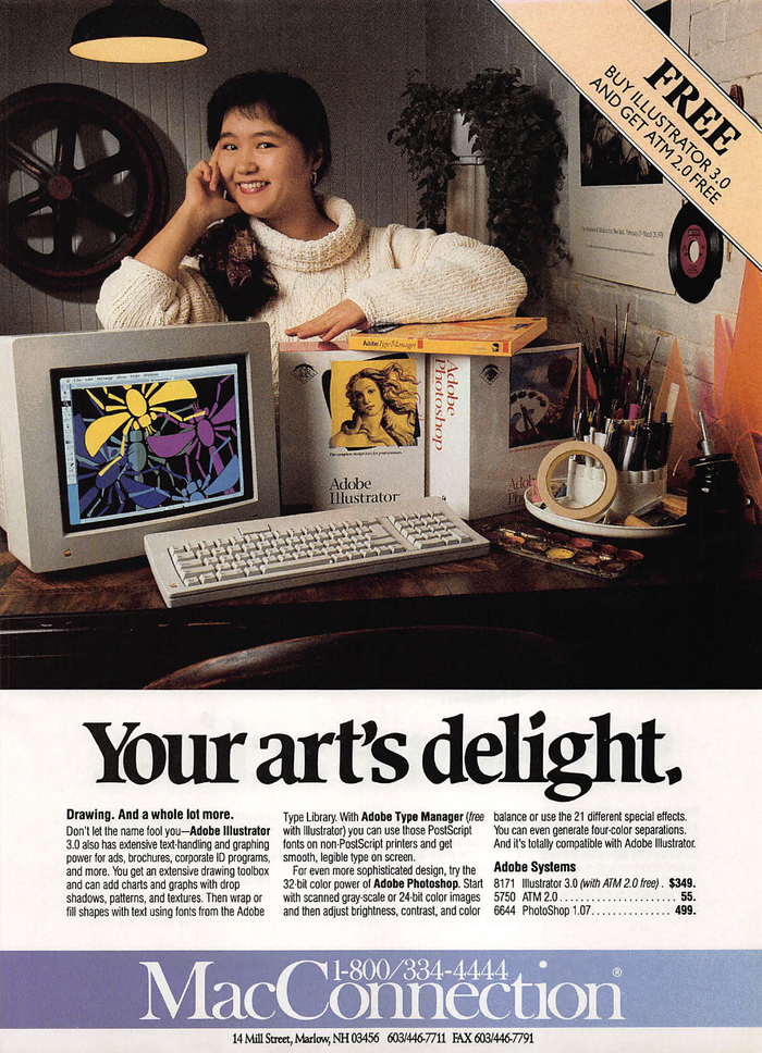 """""""Your art's delight"""" MacConnection ad (1992)"""