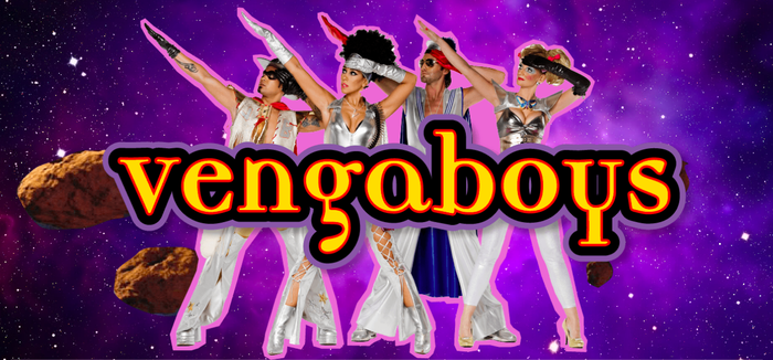 "Vengaboys logo, ""We're Going To Ibiza!"" single and The Party Album! 1"
