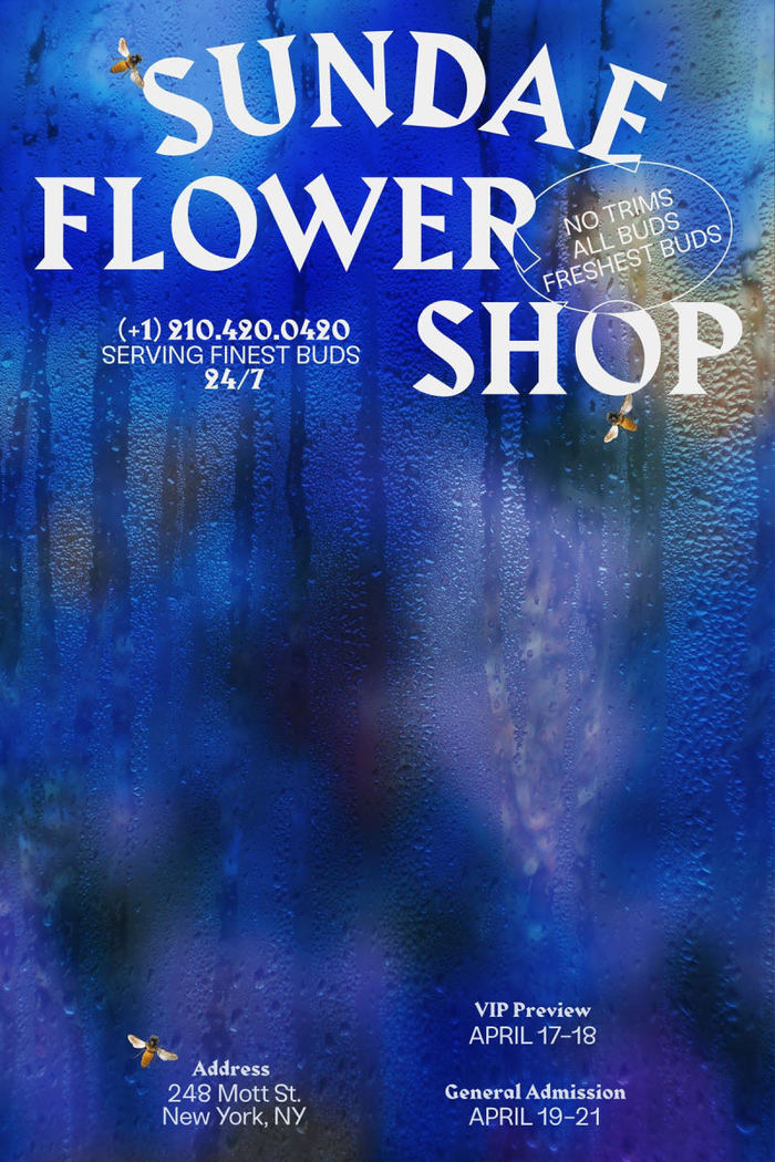 Poster for the Sundae Flower Shop pop-up shop in New York