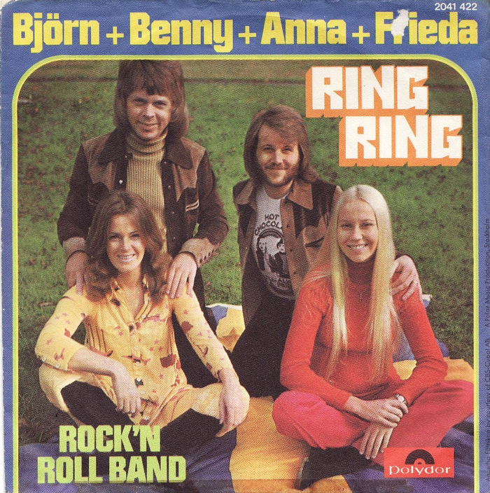 "German release on Polydor. ""Ring Ring"" is in , the rest in the equally squarish ."