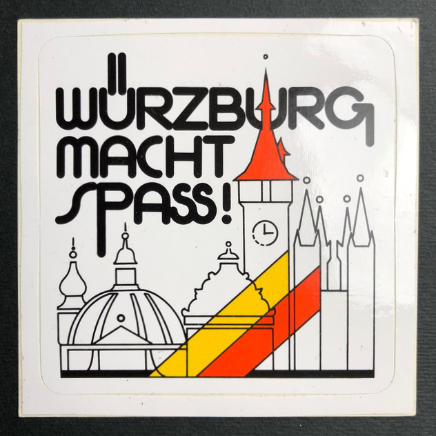 """""""Würzburg macht Spaß!"""" sticker"""