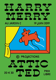 Harry Merry and Attic Ted at Jardin C