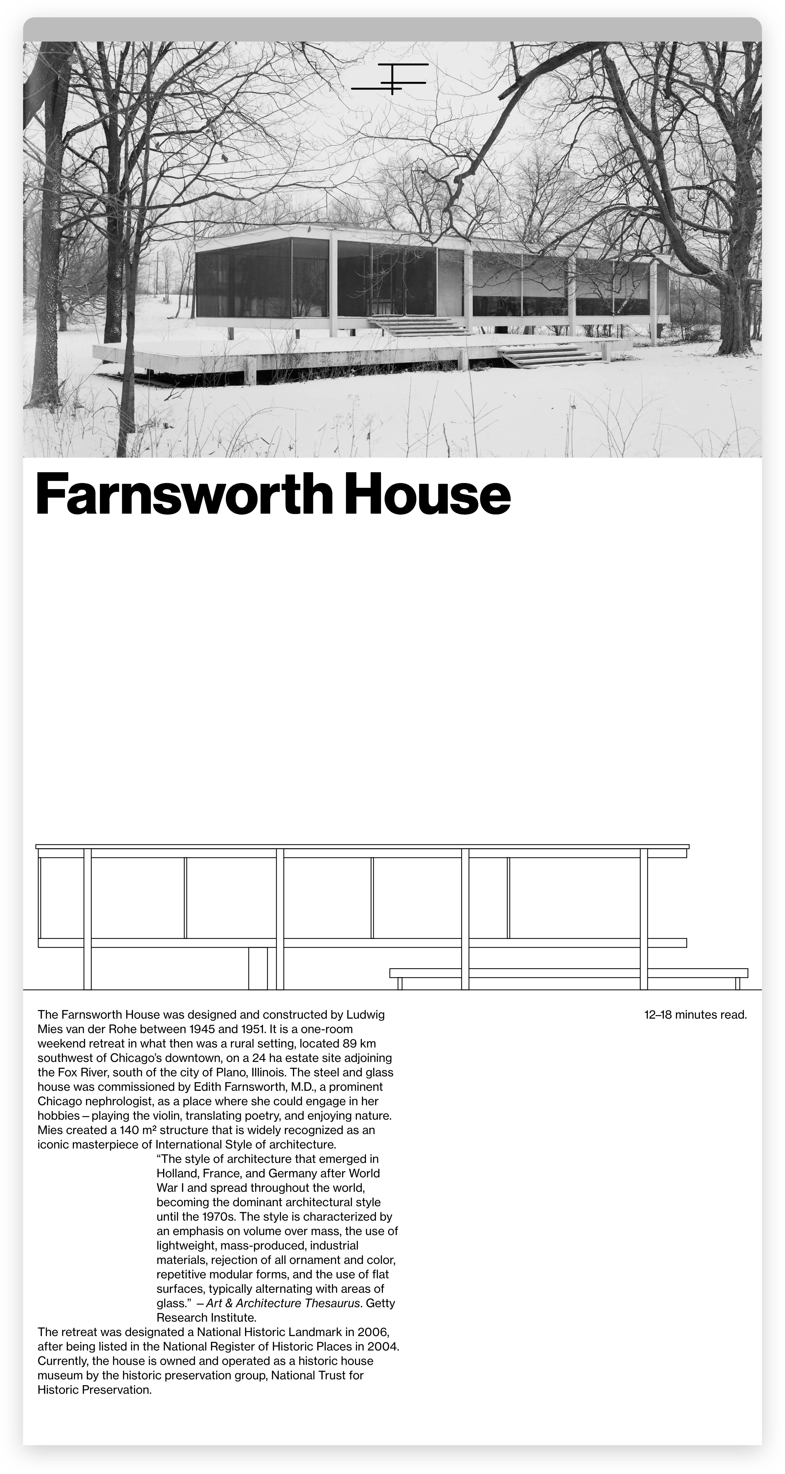 Farnsworth House Fonts In Use