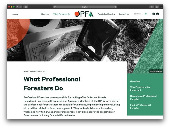 Ontario Professional Foresters Association (OPFA) 4