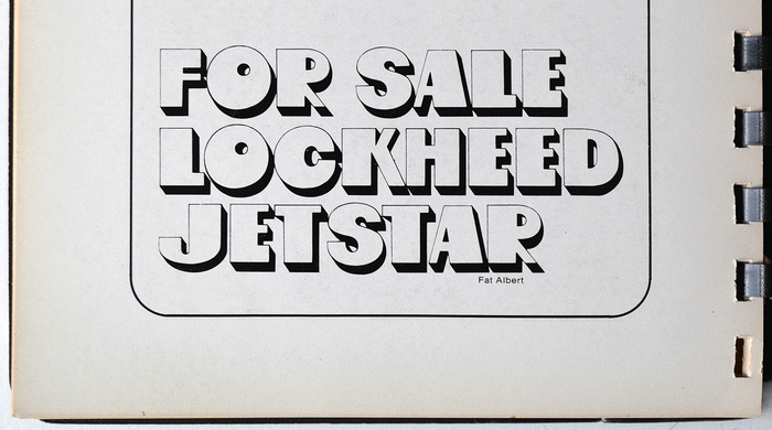 Fat Albert, a – probably unauthorized – phototype adaptation of OP-Letter, as shown in The Complete Lettergraphics Library. Culver City: Lettergraphics International Ltd., 1976.
