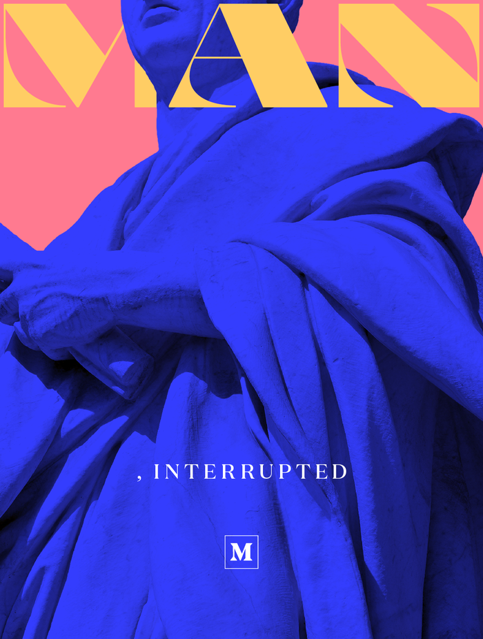 Man, Interrupted is a collection of stories on the meaning of masculinity today. Louissaint combined caps from  (Julien Priez, 2014) and  (Klim, 2013).