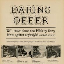 """Daring Offer"" Pillsbury Gravy Mix ad"