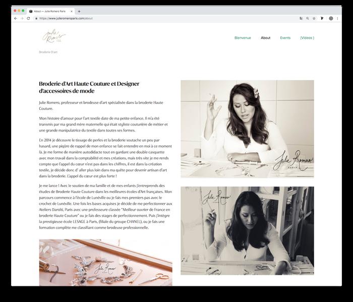 Julie Romero Paris website (2019) 1