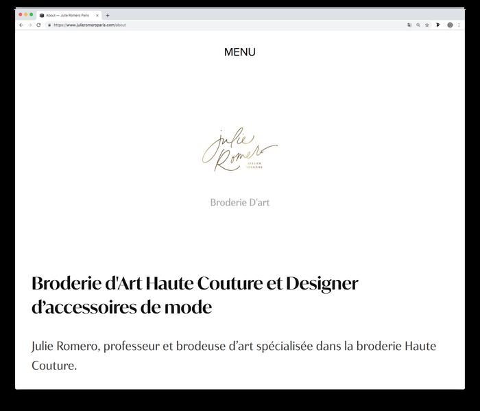 Julie Romero Paris website (2019) 2