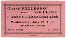 Grand excursion and picnic ticket, Penryn Park
