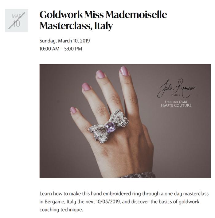 Julie Romero Paris website (2019) 3