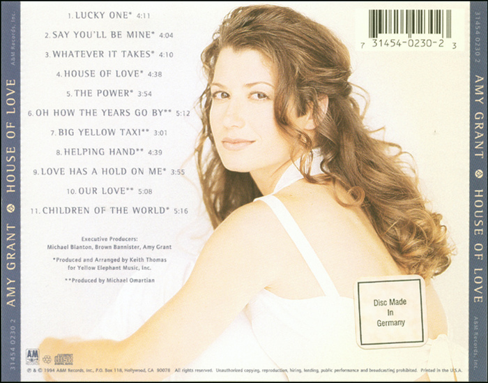 US CD album cover (back)