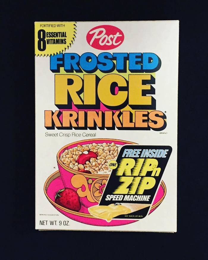 Post Frosted Rice Krinkles (1972) 1