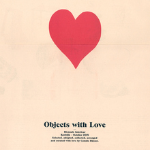 <cite>Objects with Love</cite> catalog (Biennale Interieur, Kortrijk)