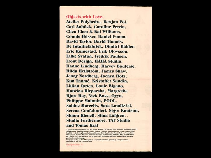 Objects with Love catalog (Biennale Interieur, Kortrijk) 3