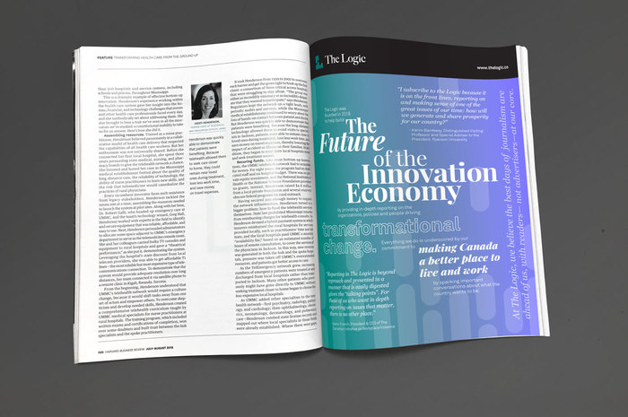 """""""The Future of the Innovation Economy"""" ad, TheLogic 1"""