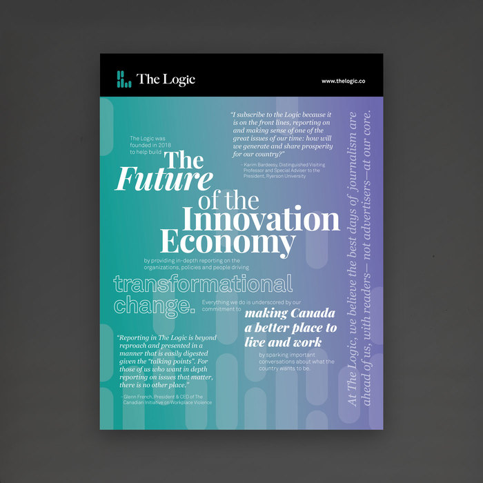 """""""The Future of the Innovation Economy"""" ad, TheLogic 2"""