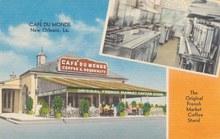 Café Du Monde postcard