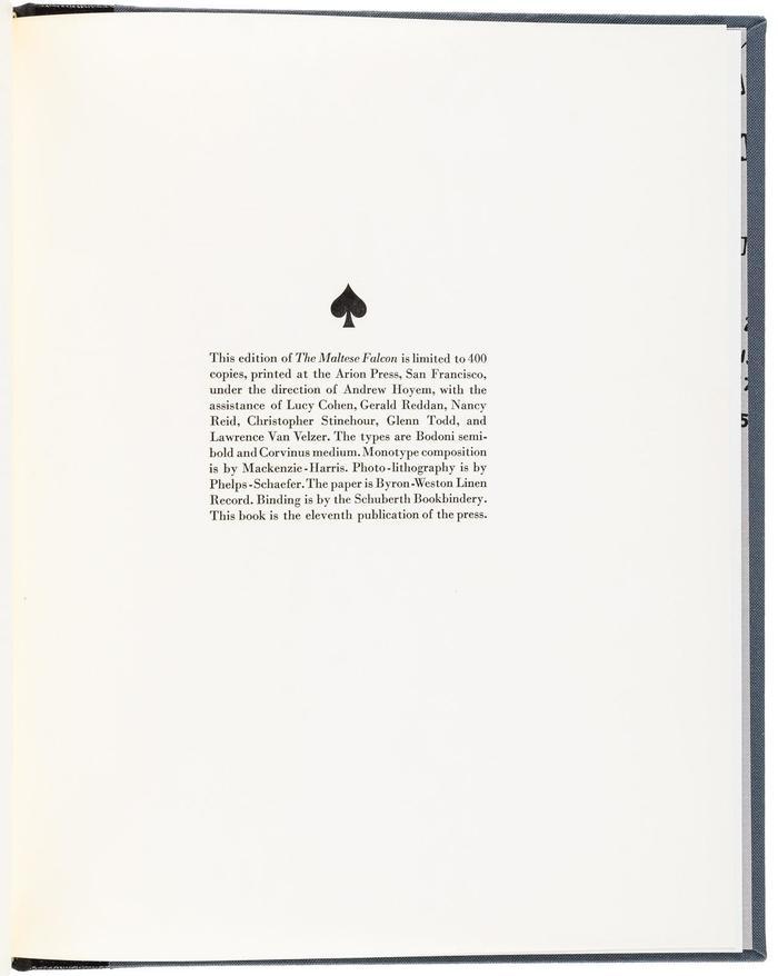 The Maltese Falcon (Arion Press, 1983) 5