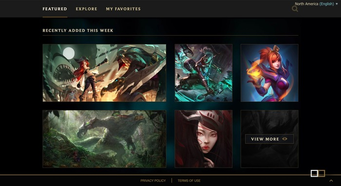 League of Legends game and website 12