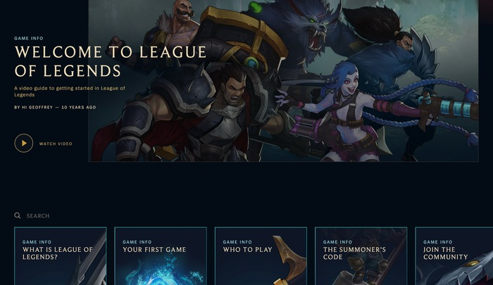 League of Legends game and website 10