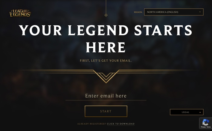 League of Legends game and website 9