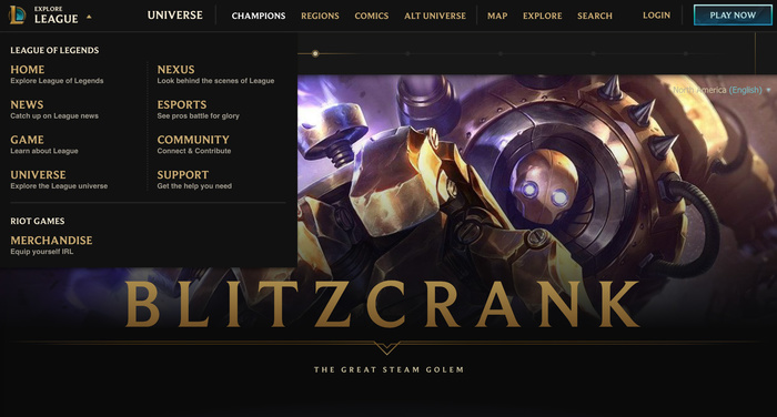 League of Legends game and website 11
