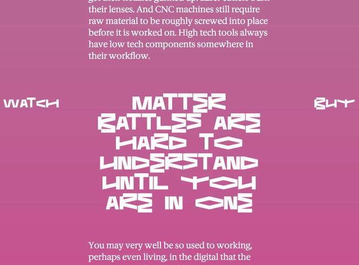 Matter Battle 9