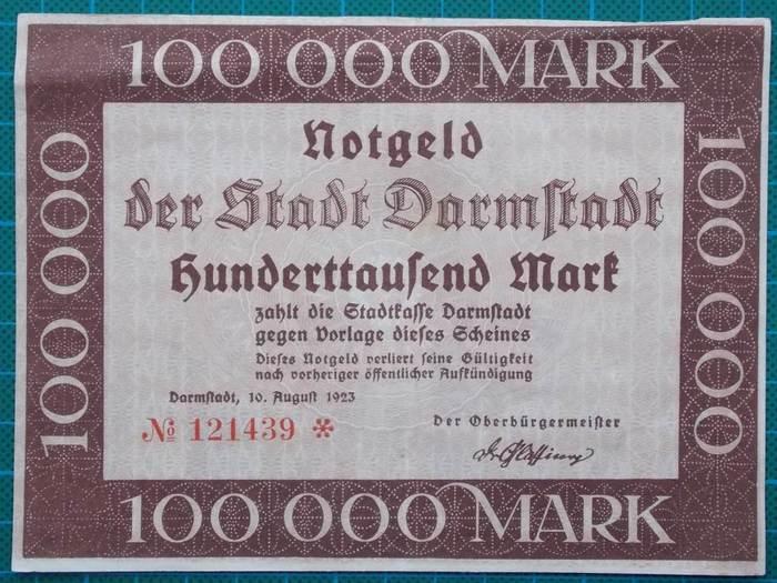 Stadt Darmstadt Notgeld 2