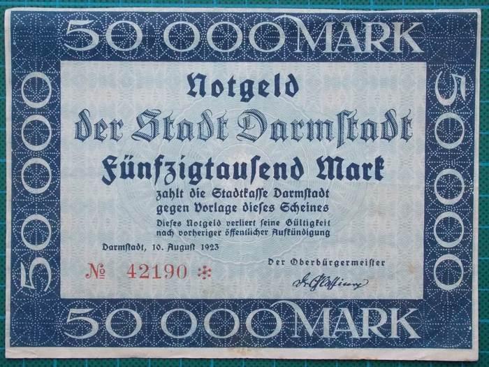 Stadt Darmstadt Notgeld 1