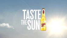 """Taste the Sun"" campaign for <span>Sol Cerveza</span> beer"
