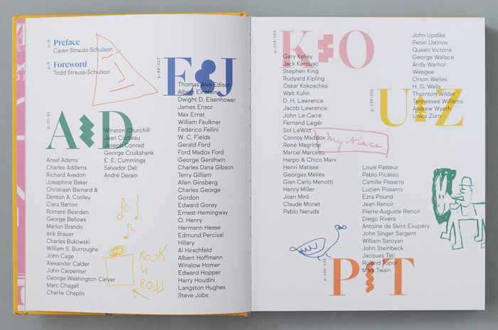 Scrawl: An A to Z of Famous Doodles 3