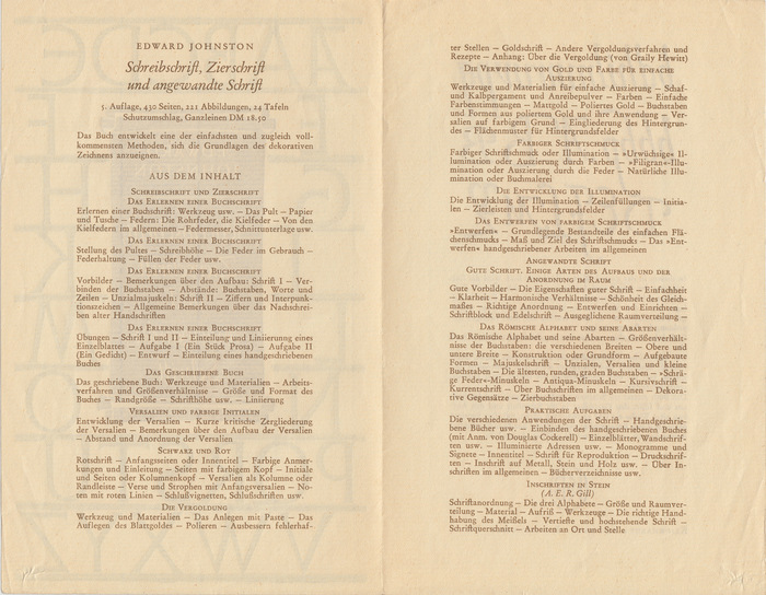 A synopsis of the book's contents. Cf. the table of contents as included in the book.