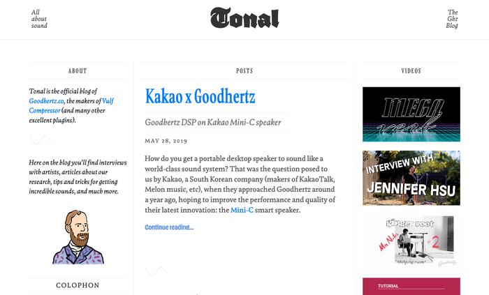 Tonal blog 1