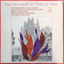 <cite>Haydn – Mass in Time of War</cite> (Angel Records) album art