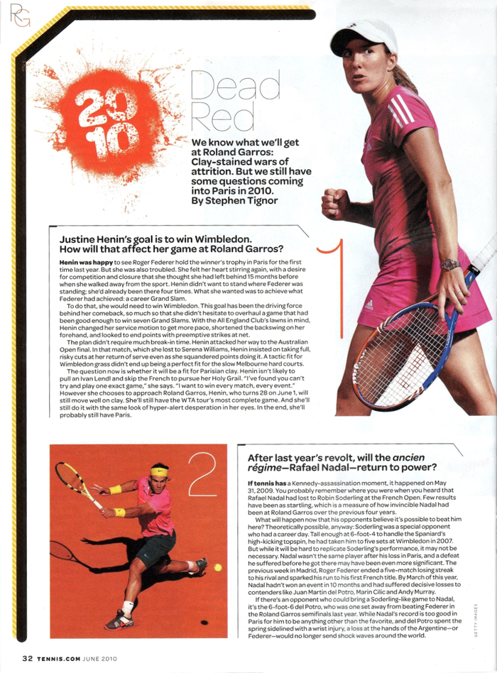 Tennis magazine 21