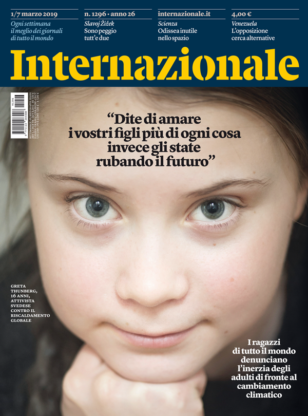 On the cover of the issue dated March 7 2019 we see a photograph of Greta Thunberg. The cover story was about the mobilization of young people from all over the world against the delay of adults in addressing the problem of climate change.