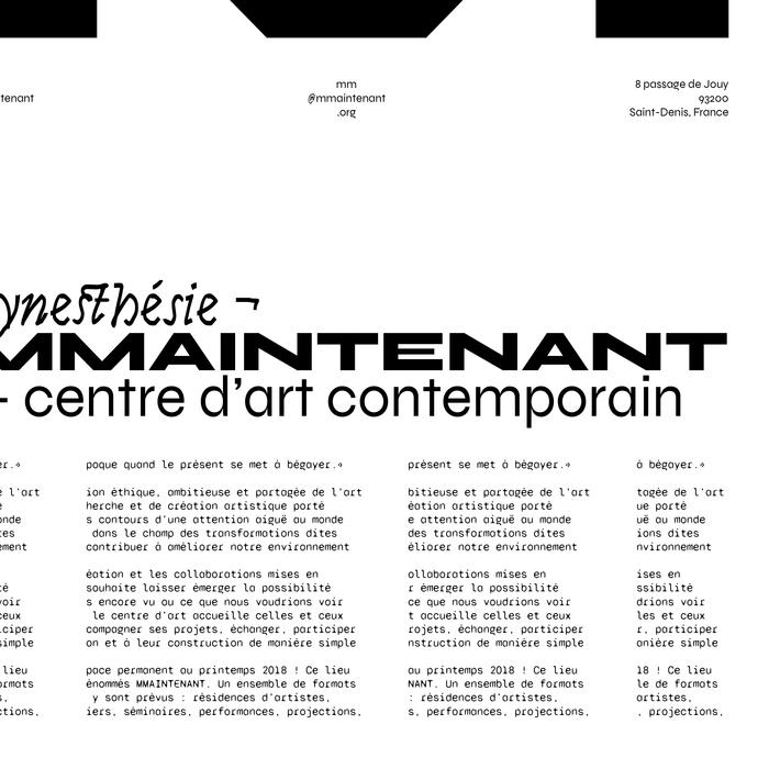 Synesthésie ¬ MMAINTENANT poster 3