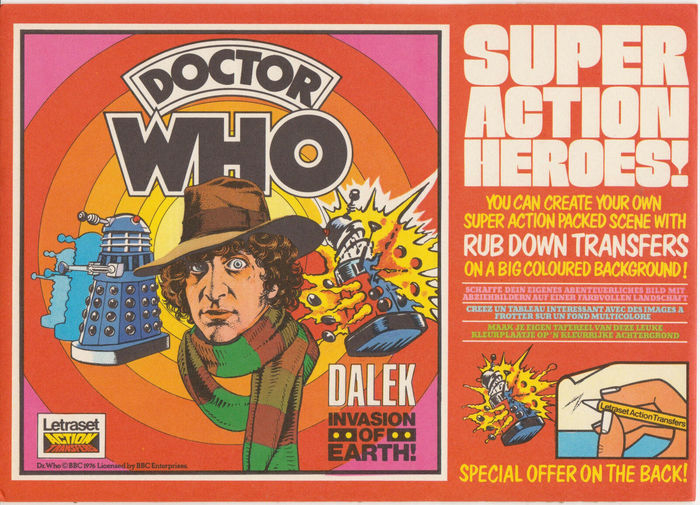 Doctor Who Action Transfers by Letraset 1