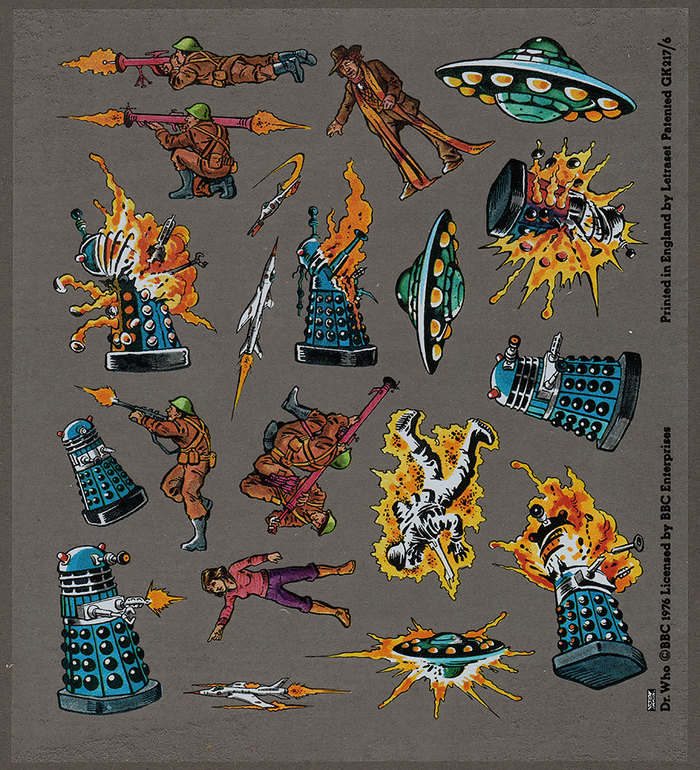 Doctor Who Action Transfers by Letraset 5