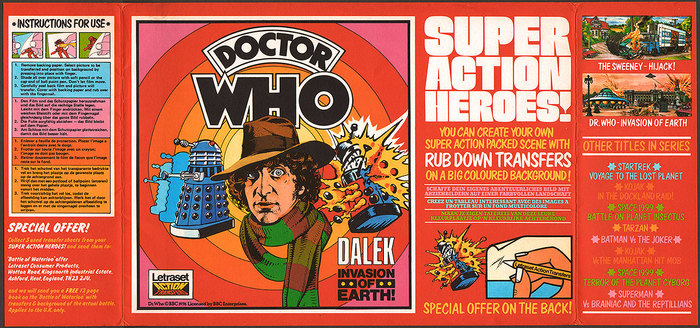 Doctor Who Action Transfers by Letraset 3