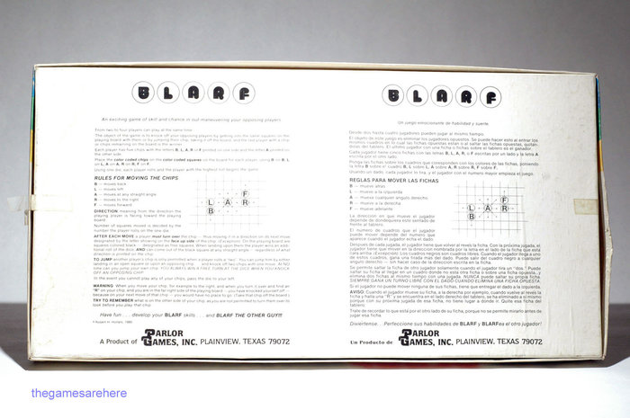 Blarf board game (1981) 3