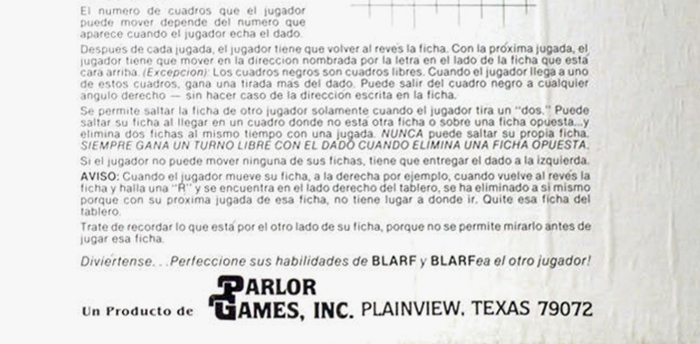 Detail with the logo of Parlor Games, Inc.