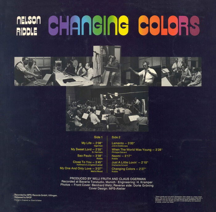 Nelson Riddle – Changing Colors album art 2