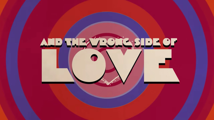 "Still from the lyrics video for ""Right Side of Heartbreak (Wrong Side of Love)""."