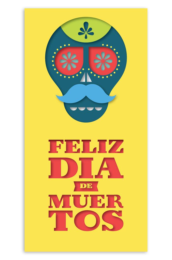 Greeting card for the Día de Muertos.