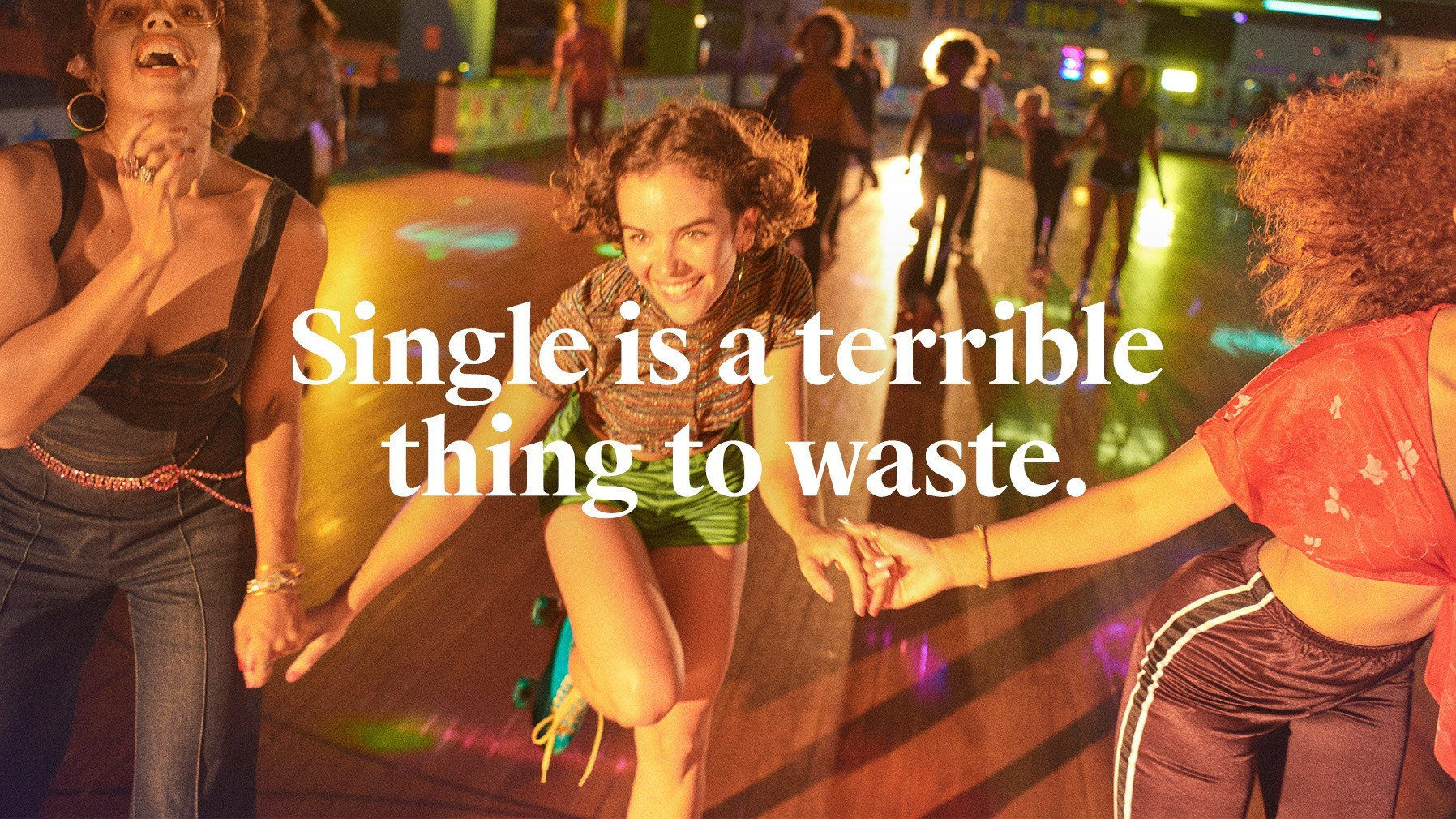 Tinder Single, Not Sorry campaign - Fonts In Use