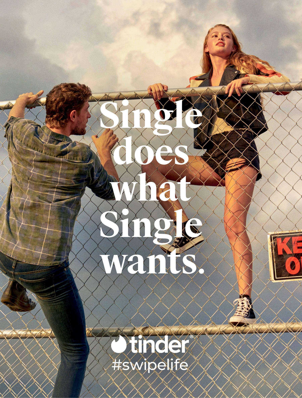 tinder werbung single not sorry